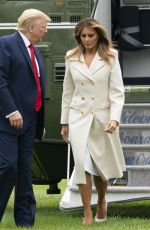 Melania Trump Returns to the White House in Washington