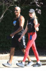 Melanie Griffith Out jogging with a Male friend in Beverly Hills