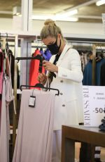Michelle Hunziker and husband Tomaso Trussardi shopping at pet shop and at Trussardi outlet in Bergamo