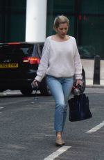 Mollie King Leaving the BBC Radio One Studios in London