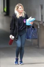Mollie King Pictured leaving the BBC Radio One Studios in London