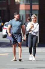 Molly Mae Hague Steps out with Boyfriend Tommy Fury for a stroll in the sun with their new dog on Friday Morning in Manchester