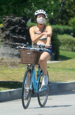 Molly Shannon Going for a bike ride in Santa Monica