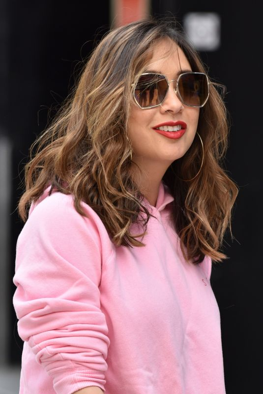 Myleene Klass Arrives at the Global studios for her Smooth Radio show in London
