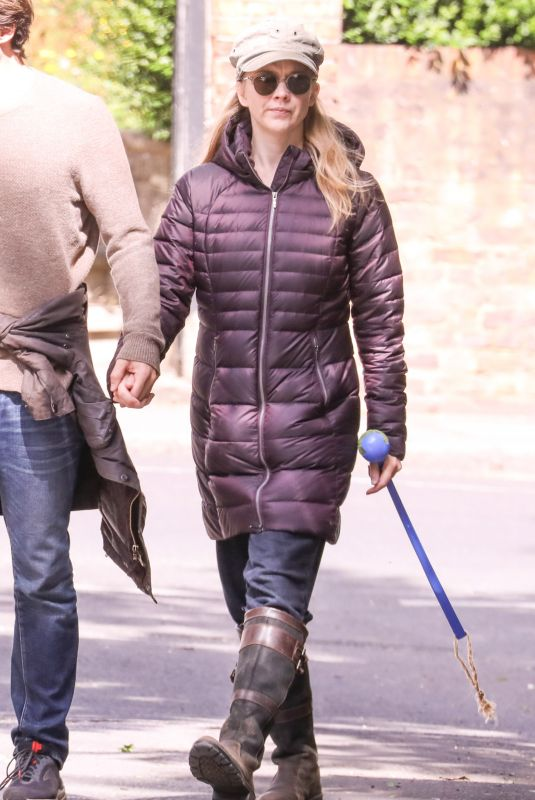 Natalie Dormer Takes her dog Indy for a walk with her boyfriend David Oakes in Richmond Park London