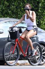 Nicole Murphy On a Bike ride with her dog in Santa Monica