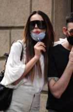 Nina Moric Pictured shopping downtown with friend