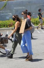 Odette Annable Seen heading to the Black Lives Matter rally in Los Angeles