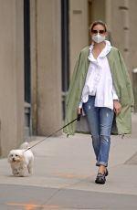 Olivia Palermo Is Fashionably Chic while walking her dog Mr. Butler