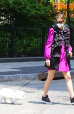 Olivia Palermo Pictured taking her dog