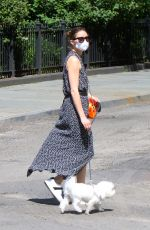 Olivia Palermo Taking her dog