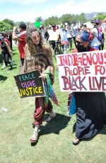 Paris Jackson Attends Black Lives Matter rally in LA