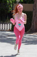 Phoebe Price Having some fun in all pink ensemble in Los Angeles