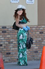Phoebe Price Wears a Trump mask out and about