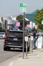Rachel Bilson Out to pickup a curbside order from Sweet Flower Cannabis in Los Angeles