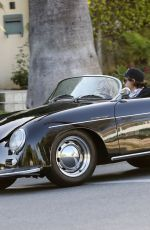 Rachel Zoe and Rodger Berman go out for a romantic Memorial Day weekend cruise in a vintage Porsche Roadster 356