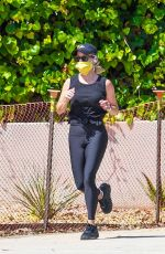 Reese Witherspoon Jogging in Brentwood