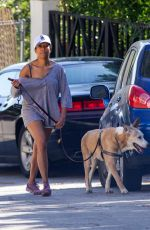 Regina King Takes her dog out for a walk in Los Angeles
