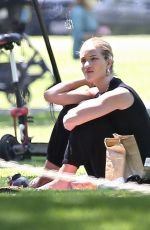 Rosie Huntington-Whiteley At the park in LA