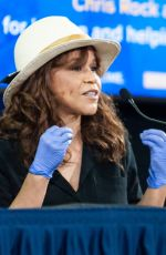Rosie Perez Attends a press briefing with New York State Governor Andrew Cuomo addressing the COVID-19 crisis; New York