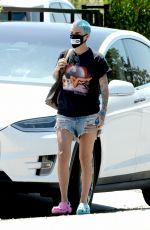 Ruby Rose Out for the first time with a colorful new hairstyle in Los Angeles