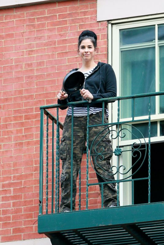 Sarah Silverman Once again emerged from her New York City apartment