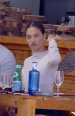 Shanina Shaik and boyfriend Seyed Payam Mirtorabi do lunch in Ibiza