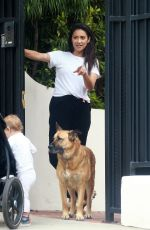 Shay Mitchell Keeps her distance while talking to her friend in Los Angeles