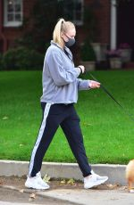Sophie Turner Walking her dogs in LA