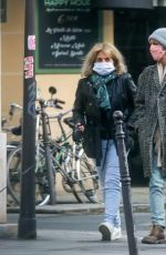 Vanessa Paradis & Corinne Paradis Go out for a stroll in Paris