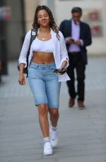 Yasmin Evans Pictured leaving the BBC studios in London