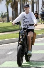 Abby Champion & Patrick Schwarzenegger Goes cycling together in Santa Monica