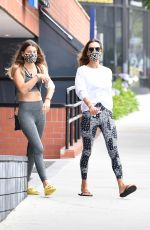 Alessandra Ambrosio At the gym with a friend in Los Angeles