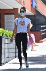 Alessandra Ambrosio Outside a gym in Brentwood