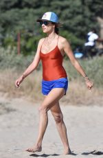 Alessandra Ambrosio Playing volleyball at the beach