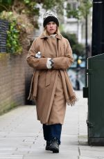 Alice Eve out and about during the Coronavirus outbreak in West London