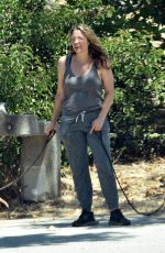 Alicia Silverstone Out on a hike with her dogs in Los Angeles