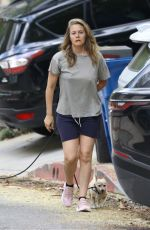 Alicia Silverstone Out walking her dogs