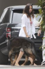 Ana De Armas Outside her house in Brentwood