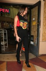Anastasia Karanikolaou Flaunts her curves as she is spotted leaving liquor store with friends in West Hollywood