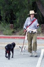 Andie MacDowell Goes for a hike with her two dogs amid the COVID-19 pandemic in Los Angeles