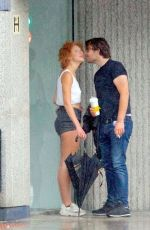 Anna Ermakova Packs on the PDA while out with her boyfriend