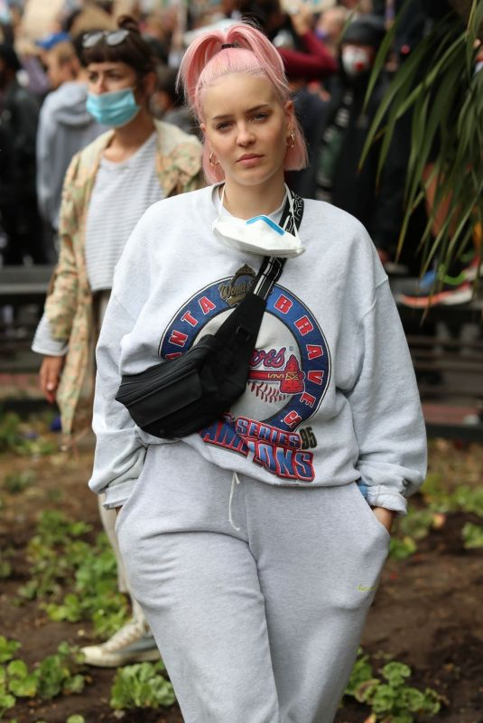 Anne-Marie At Black Lives Matter Protest in London