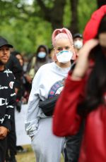 Anne Marie Looked stunning in new pink hair spotted at Black Lives Matter demonstration in London