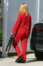 Ariel Winter In Red Pajama in Los Angeles
