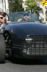 Ashley Greene and her husband Paul Khoury take a cruise through town in West Hollywood