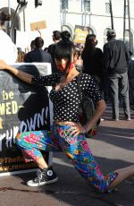 Bai Ling Attends the George Floyd, Black Lives Matter protest in Los Angeles