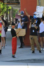 Bai Ling Passes at the Black Lives Matter protest in Studio City