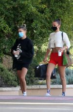 Bella Hadid & Hailey Bieber Arriving in Sardina, Italy