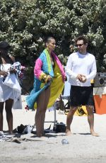 Bella Hadid On the set of a photoshoot in Corsica Island, France